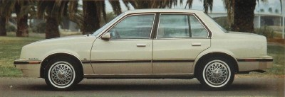 The 1982 Chevy Cavalier CL 4-door-sedan, part of the 1982 Chevy Cavalier line.