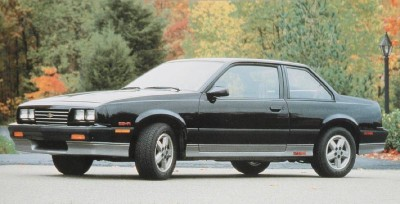 The 1986 Chevy Cavalier Z24, part of the 1986 Chevy Cavalier line.
