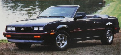 The 1987 Chevrolet Cavalier RS convertible, part of the 1987 Chevrolet Cavalier line.