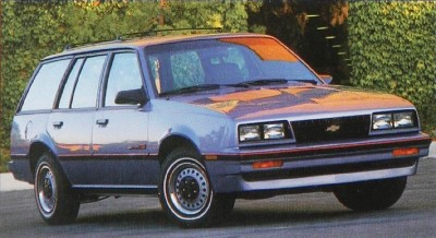 The 1987 Chevrolet Cavalier RS wagon, part of the 1987 Chevrolet Cavalier line.