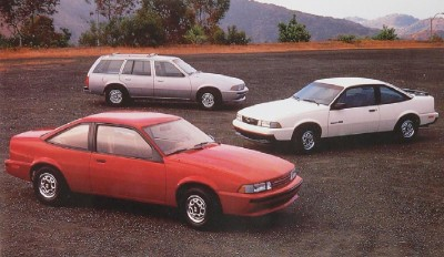 Three 1988 Chevrolet Cavalier models.
