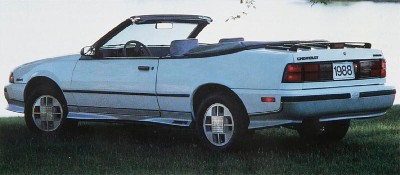 1988 Chevrolet Cavalier Z24, part of the 1988 Chevrolet Cavalier line.