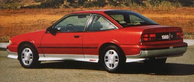 The 1989 Chevrolet Cavalier Z24 Coupe, part of the 1989 Chevy Cavalier line.