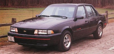 The 1990 Chevrolet Cavalier RL, part of the 1990 Chevrolet Cavalier line.