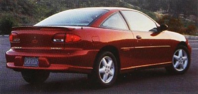 The 1996 Chevy Cavalier Z24 Coupe, part of the 1996 Chevy Cavalier line.