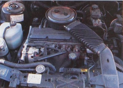 The 2.2-liter inline four engine.