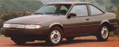 The 1991 Chevrolet Cavalier VL Coupe, part of the 1991 Chevy Cavalier line.