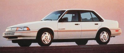 The 1992 Chevy Cavalier RS sedan, part of the 1992 Chevy Cavalier line.