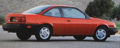 "1992 Chevrolet Cavalier ""Stripper"" VL Coupe, part of the 1992 Chevy Cavalier line."