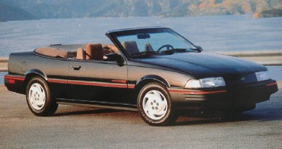 The 1993 Chevrolet Cavalier RS Convertible, part of the 1993 Chevrolet Cavalier line.