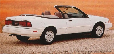 The 1994 Chevrolet Cavalier RS Series Convertible, part of the 1994 Chevrolet Cavalier line.