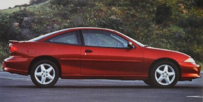 The 1996 Chevrolet Cavalier Z24 Coupe, part of the 1996 Chevy Cavalier line.