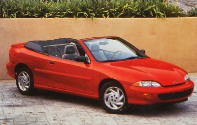 The 1996 Chevrolet Cavalier LS Convertible, part of the 1996 Chevy Cavalier line.
