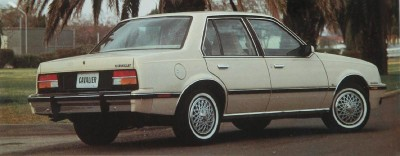 The 1982 Chevrolet Cavalier CL 4-door Sedan, part of the 1982 Chevrolet Cavalier line.