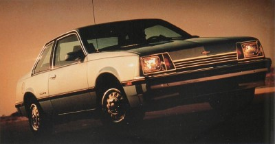 The 1983 Chevy Cavalier Coupe, part of the 1983 Chevy Cavalier line.