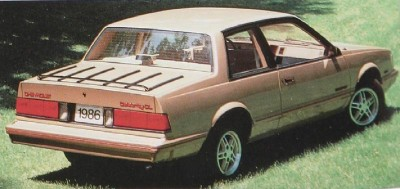 1986 Chevrolet Celebrity 2-door coupe