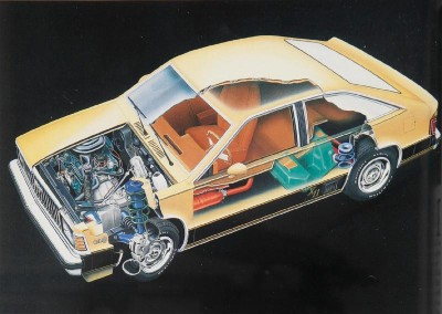 1980 Chevrolet Citation cutaway illustration