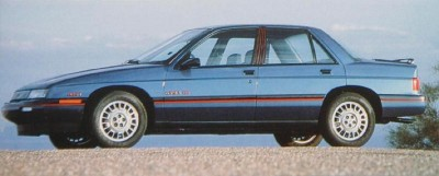 The top-of-the-line 1989 Corsica LTZ included a 130-horsepower 2.8-liter V-6 as standard.