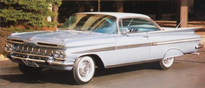 The 1959 Chevrolet Impala became a separate series, distinct from the Bel Air.