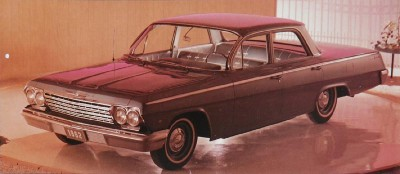 The 1962 Chevrolet Bel Air remained the mid-level full-size Chevy.