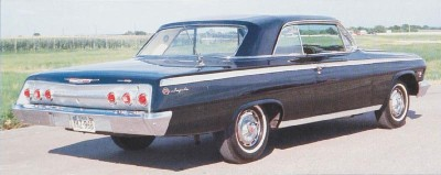 The 1962 Chevrolet Impala offered a Super Sport Trim Package.