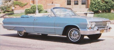 The Impala SS convertible was the most expensive full-size Chevrolet in 1963.