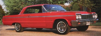 The 1964 Chevrolet Impala SS came only­ as a two-door hardtop or convertible.