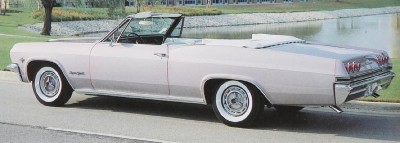 This 1965 Chevrolet Impala SS convertible is shown in the color Evening Orchid.