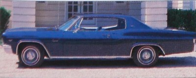 The 1966 Chevrolet Caprice Custom Coupe had its own distinct roofline.