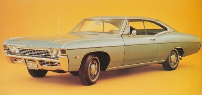 The 1968 Chevrolet Impala had redesigned front and rear bumpers.