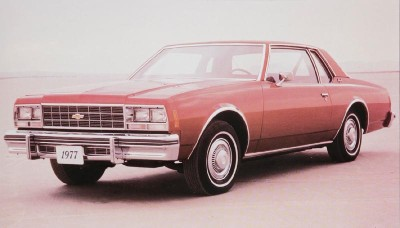 The 1977 Chevrolet Impala downsized the model but increased interior space.