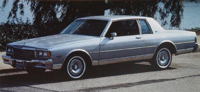 The Chevrolet Caprice Classic was the only full-size, two-door Chevy in 1984.