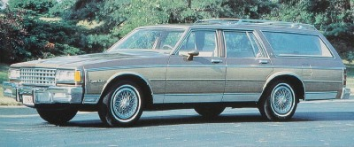 1985 Chevrolet Caprice Classic station wagons upgraded to fit eight passengers.