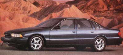 The Chevrolet Impala SS came back on 17-inch aluminum wheels in 1995.