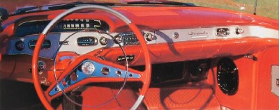 The 1958 Chevrolet Impala Bel Air dashboard was a riot of 1950's style and color.