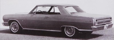 1964 Chevrolet Malibu hardtop rear view