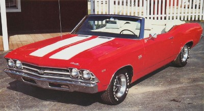 1969 Chevrolet Chevelle convertible, front view