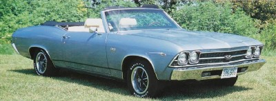 1969 Chevrolet Chevelle convertible with SS 396 package