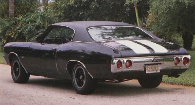 1971 Chevrolet Chevelle SS, rear view