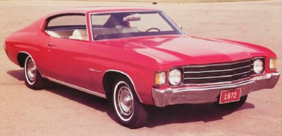 1972 Chevrolet Chevelle Malibu Hardtop Coupe, front view