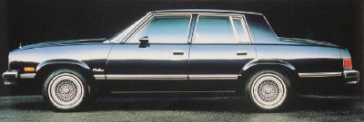 1983 Chevrolet Malibu four-door sport sedan side view