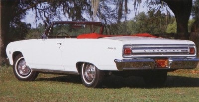 1965 Chevrolet Chevelle Malibu SS convertible rear view