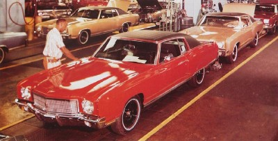 1970 Chevrolet Monte Carlo assembly line