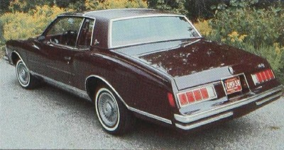 1978 Chevrolet Monte Carlo rear