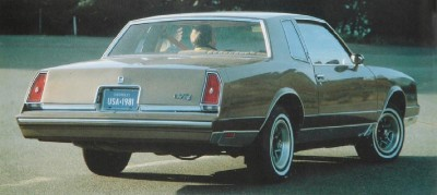 1981 Chevrolet Monte Carlo rear