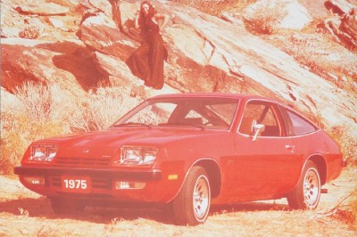The 1975 Chevrolet Monza 2+2 hatchback, part of the 1975 Chevrolet Monza line.
