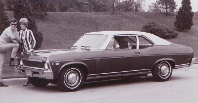 The 1969 Chevrolet Nova Coupe, part of the 1969 Chevrolet Nova line.