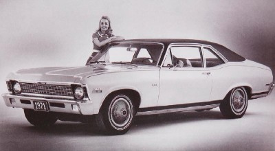 The 1971 Chevrolet Nova 2-door Coupe, part of the 1971 Chevrolet Nova line.