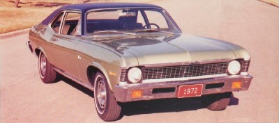 The 1972 Chevrolet Nova 2-door coupe, part of the 1972 Chevrolet Nova line.