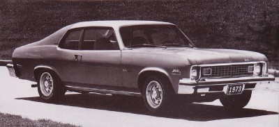 The 1973 Chevrolet Nova Hatchback Coupe, part of the 1973 Chevrolet Nova line.
